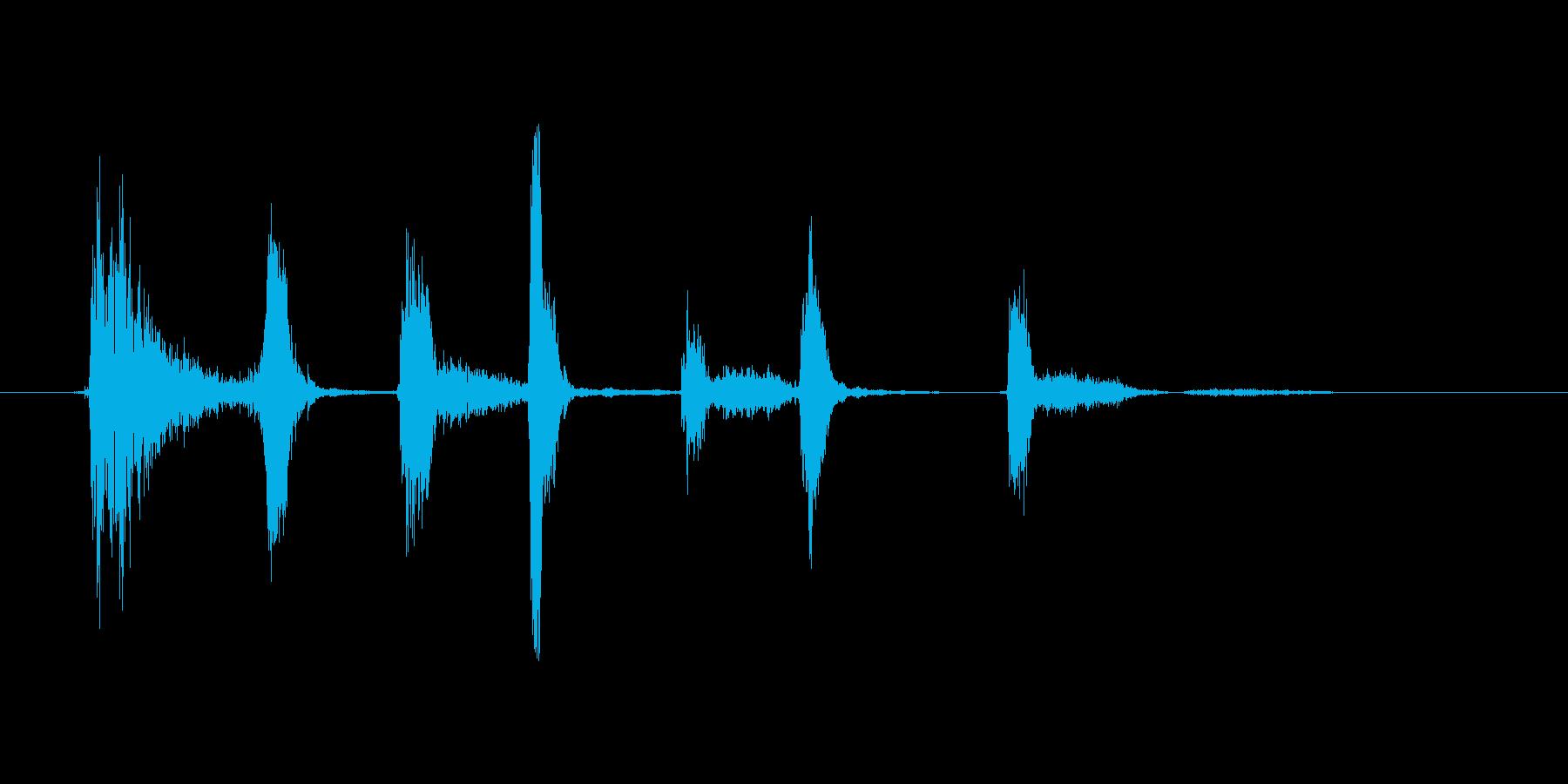 (長い咳)の再生済みの波形