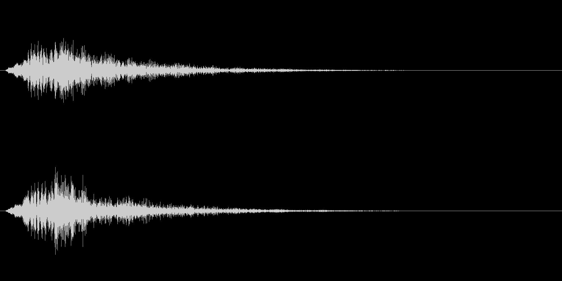 ホラー系や決定音などの未再生の波形
