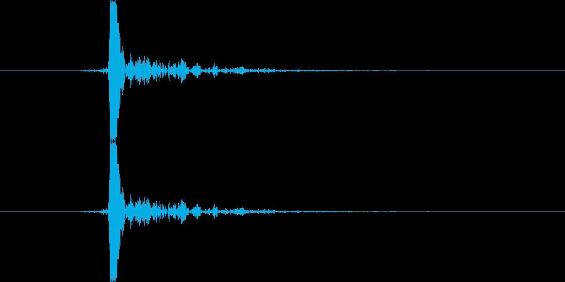 キュパ(キャップ)の再生済みの波形