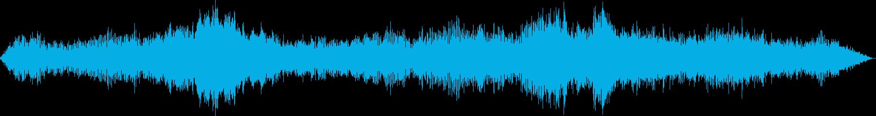 空を飛ぶ複葉機の再生済みの波形