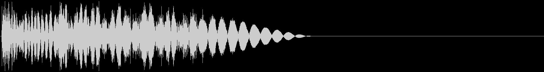 ビシッ(強キック・物理攻撃・ツッコミ)の未再生の波形