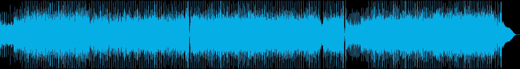 明るい雰囲気のインディーロック楽曲の再生済みの波形