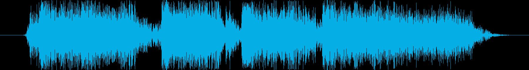 ロックバンドショートジングル004の再生済みの波形
