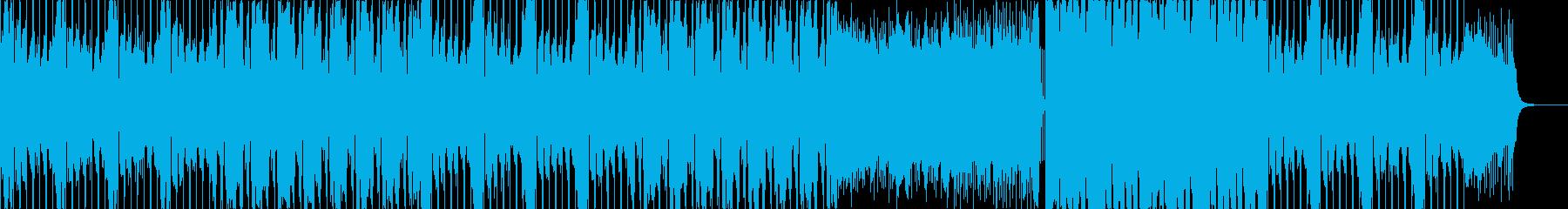 スタイリッシュな映像向け/ダブステップの再生済みの波形