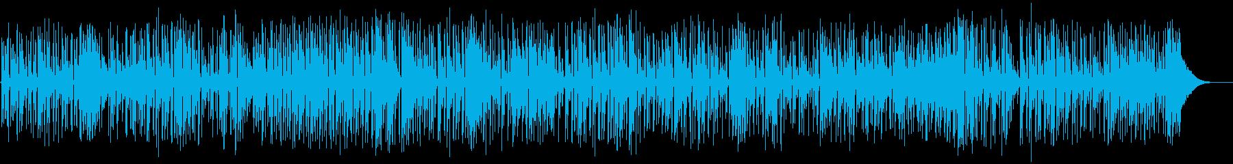 フォークアコースティックギターデュオの再生済みの波形