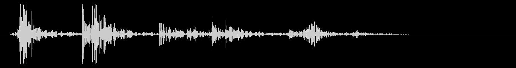 水滴音を加工して制作したキャンセル音の未再生の波形