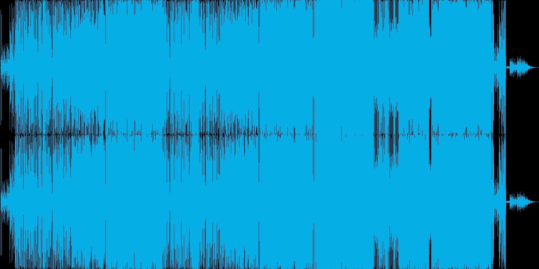 展開のある映像に合うギターロックの再生済みの波形