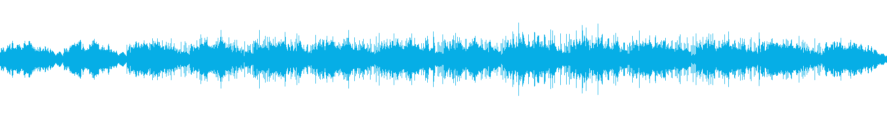 少し気だるげなループ曲の再生済みの波形