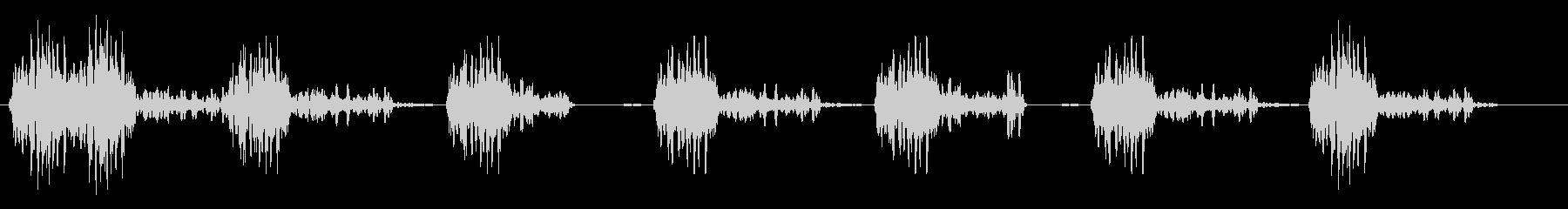 レトロなタイプライターの未再生の波形