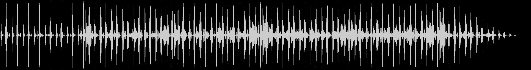 シャッフルビートのネオソウルR&Bの未再生の波形