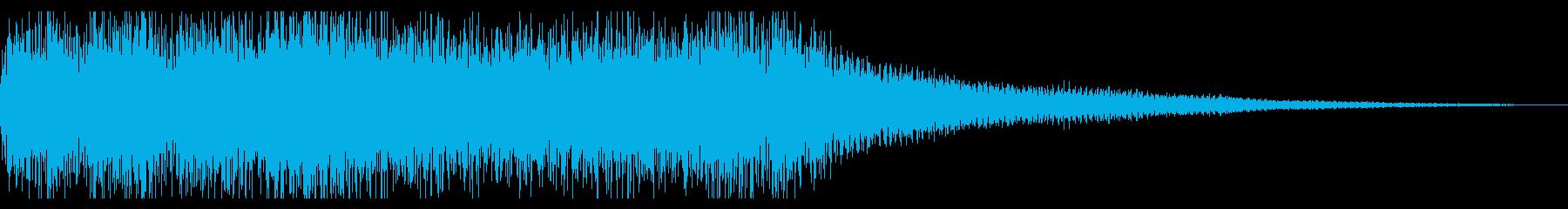 勝利系のファンファーレの再生済みの波形