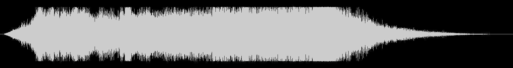 背筋が凍る恐怖のホラー・サスペンスロゴの未再生の波形