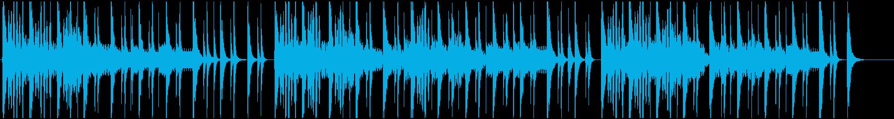 厳かな日本伝統を連想させるBGMの再生済みの波形