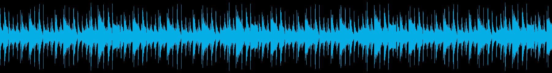 繁華街や人混みを歩くジャズ曲(ループ仕様の再生済みの波形