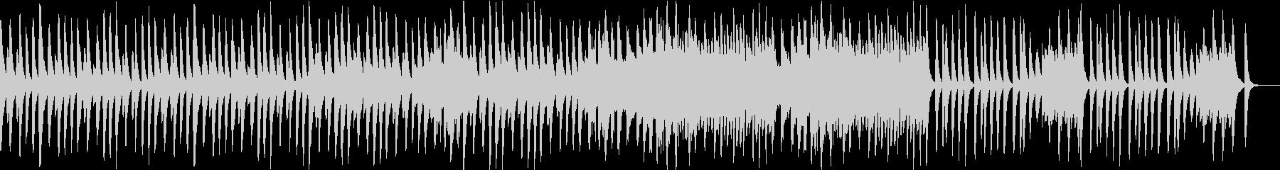 シンプルな木琴の曲の未再生の波形