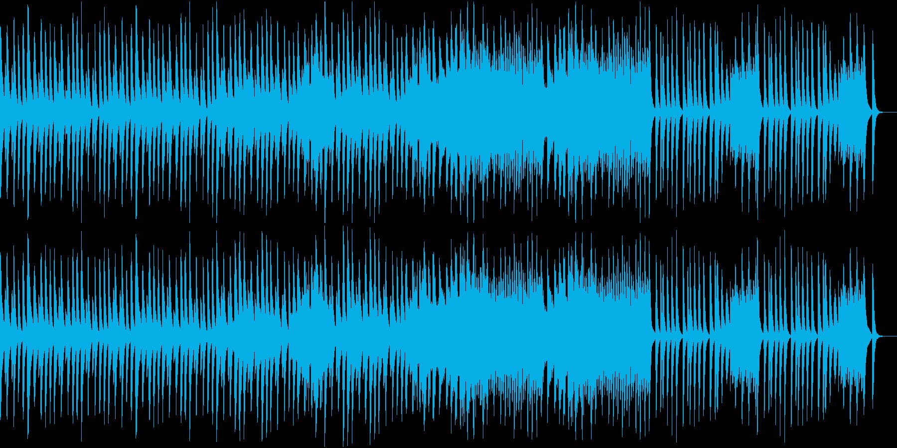 シンプルな木琴の曲の再生済みの波形