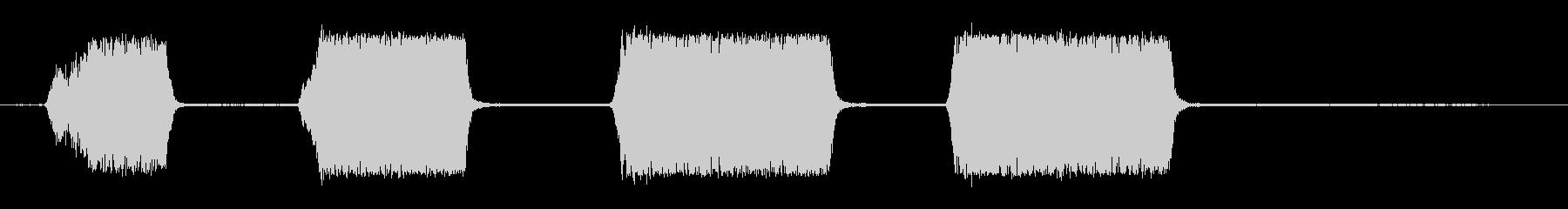 狭いゲージの蒸気機関車:ホイッスル...の未再生の波形