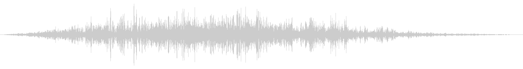 ふすまを開ける音1の未再生の波形