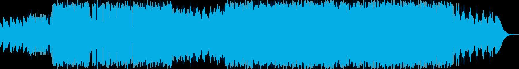 疾走感且つ浮遊感のあるビッグビートの再生済みの波形