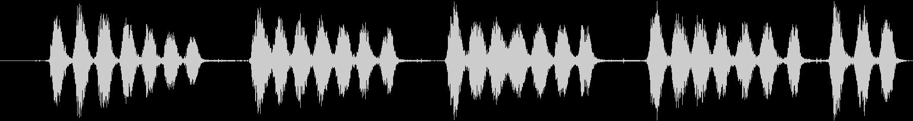 大型犬:視覚的なバーキング、犬の未再生の波形