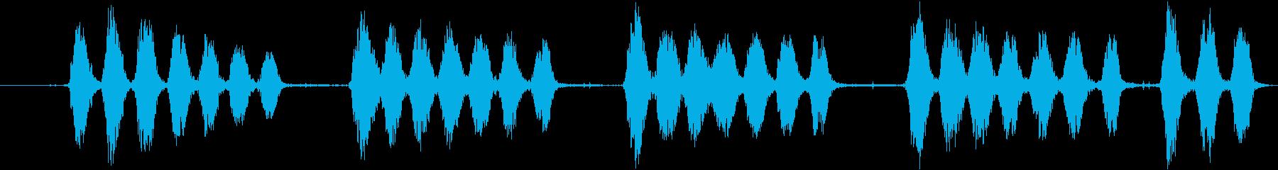 大型犬:視覚的なバーキング、犬の再生済みの波形