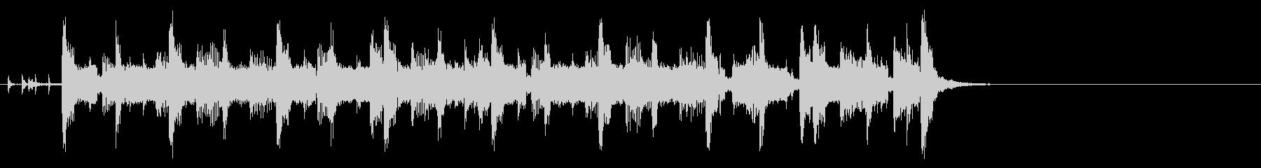 コミカルなほのぼのポップ(Aメロ)の未再生の波形