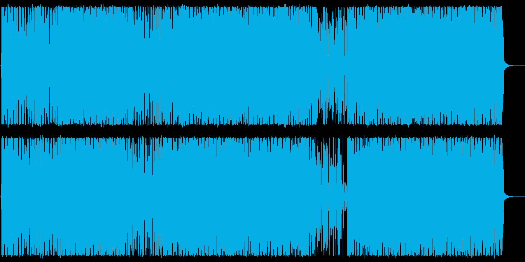 疾走感のあるJポップ系キーボードロックの再生済みの波形
