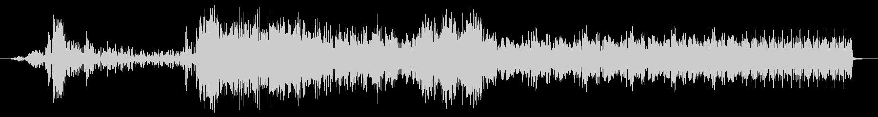バジースタッターインパクト遷移の未再生の波形