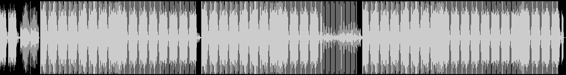 重低音トラップビートの未再生の波形