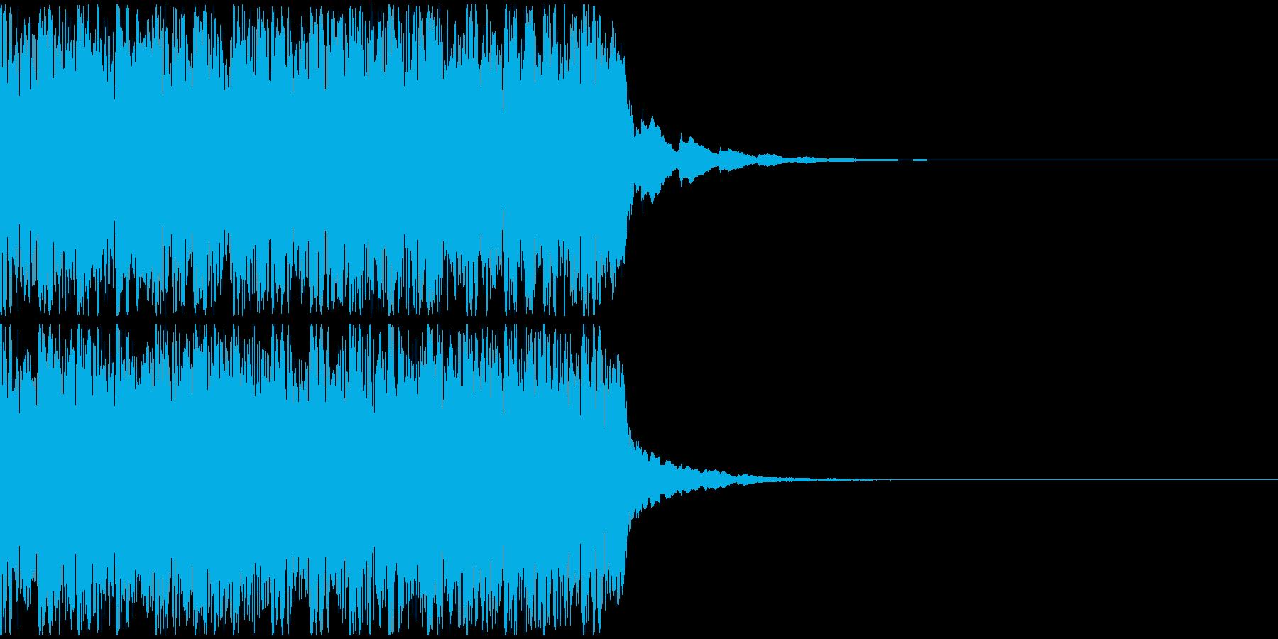 【アンビエント】ロング1、ショート2の再生済みの波形