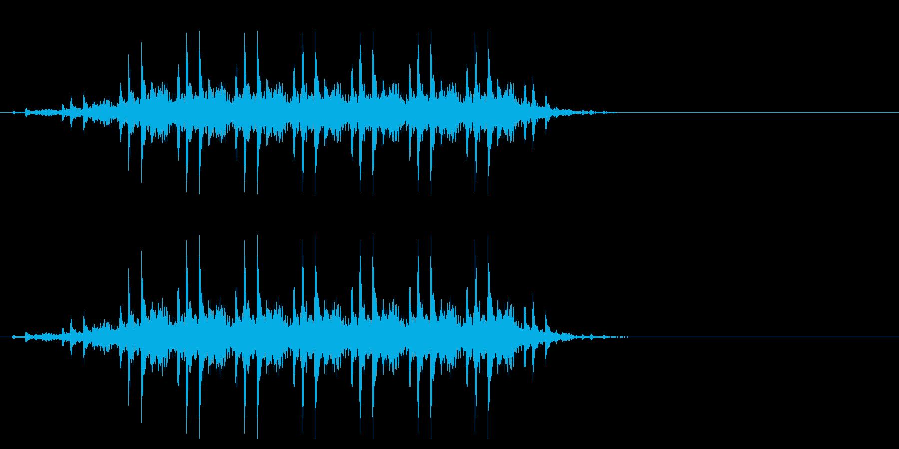 場面 列車の再生済みの波形