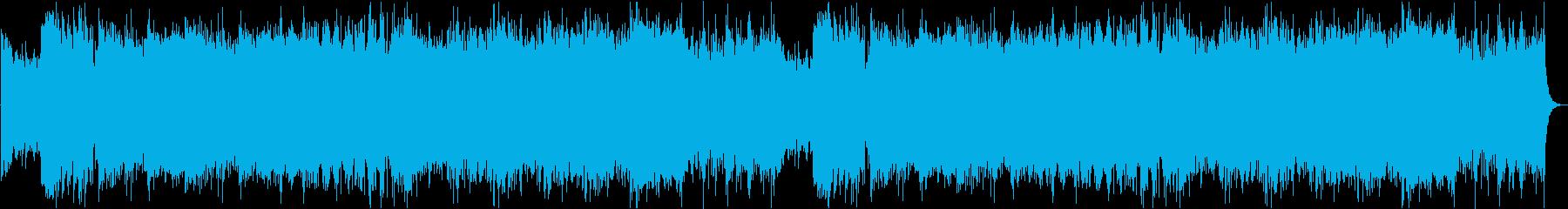 ハイテンションなサイバー戦闘曲の再生済みの波形