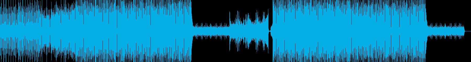 リズムが心地よいピアノが主旋律のハウスの再生済みの波形