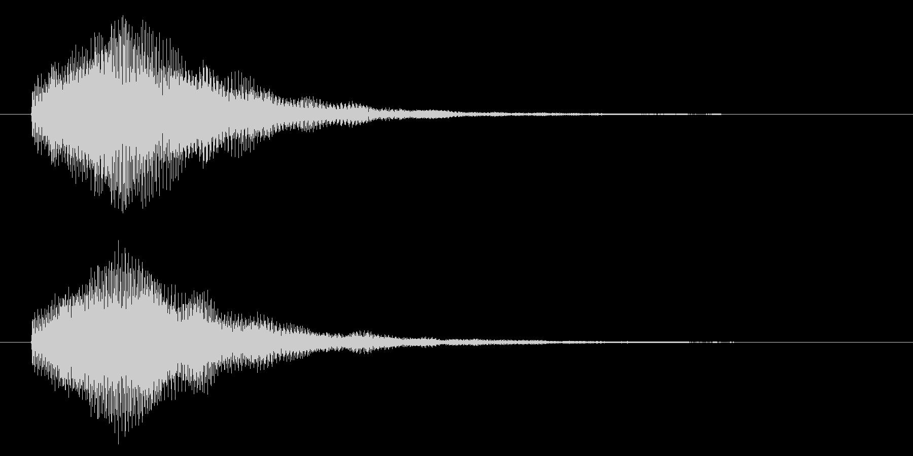 ハイテク・科学・SF風シンセジングルの未再生の波形