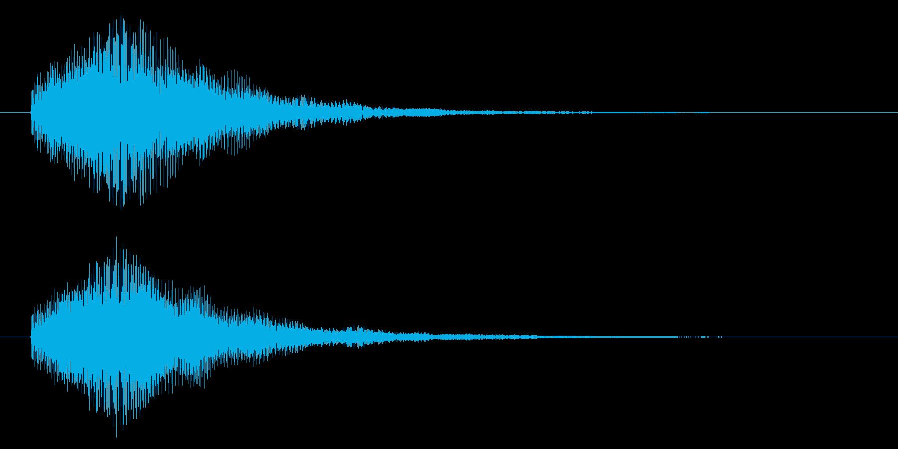 ハイテク・科学・SF風シンセジングルの再生済みの波形