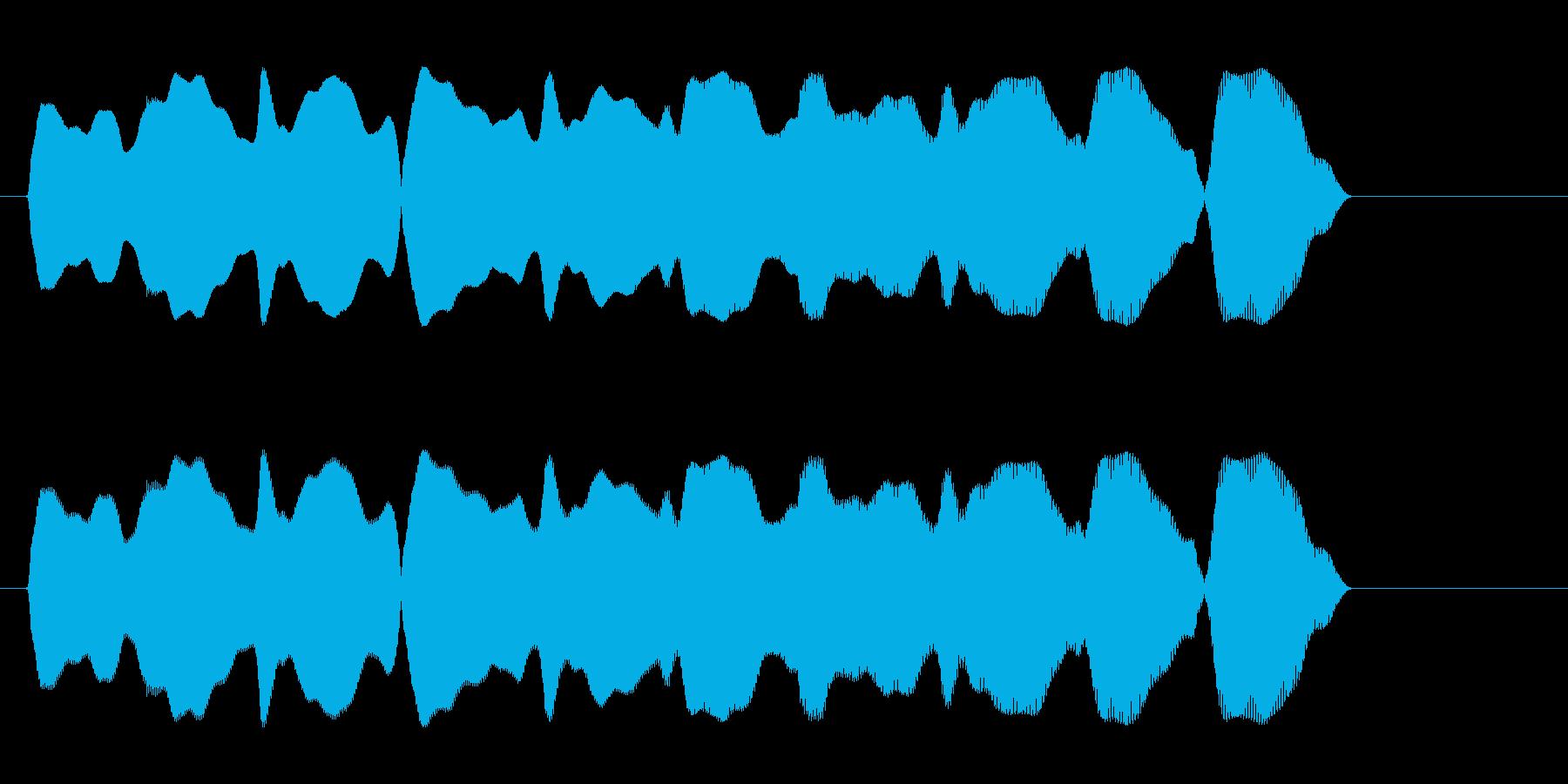 ピュロロロ(落下のコミカルな効果音)の再生済みの波形