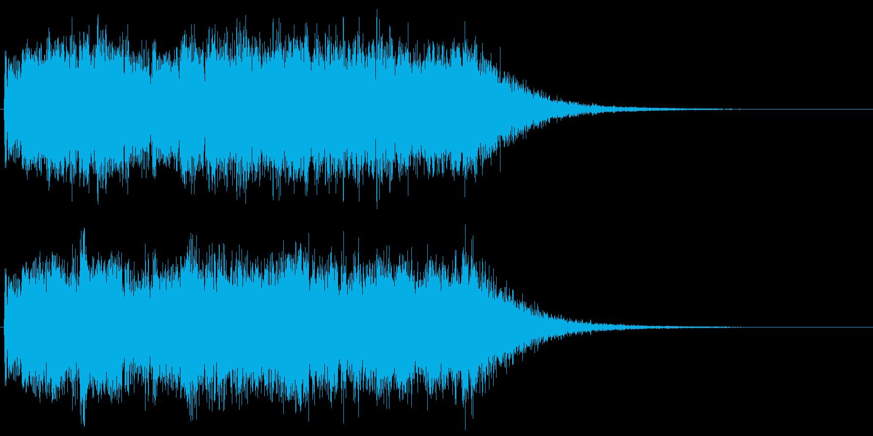 ヘヴィーメタルなギターのキメフレーズ の再生済みの波形