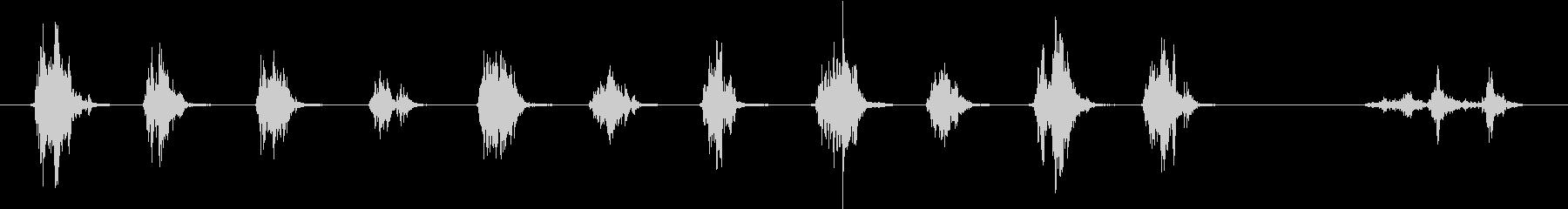 ガシャンガシャン!重めのロボ歩行音の未再生の波形