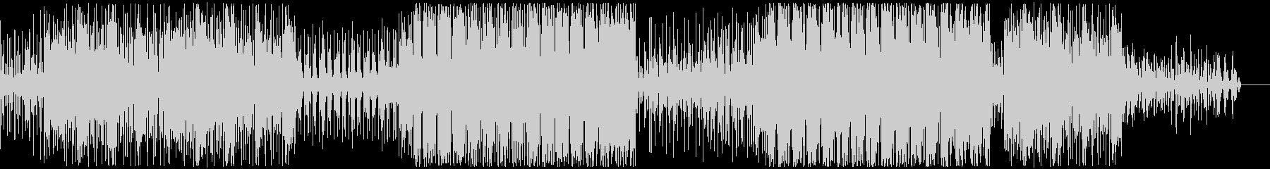 アンダーグラウンドなテクノ系BGMの未再生の波形