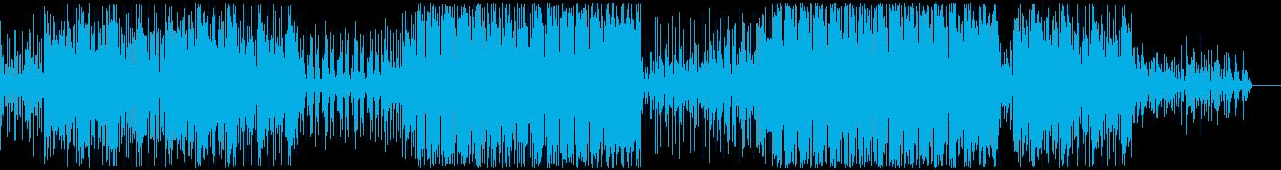 アンダーグラウンドなテクノ系BGMの再生済みの波形