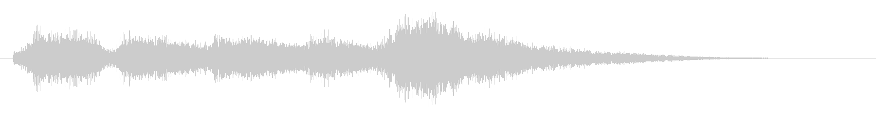 ギタークリーントーンのサウンドロゴの未再生の波形