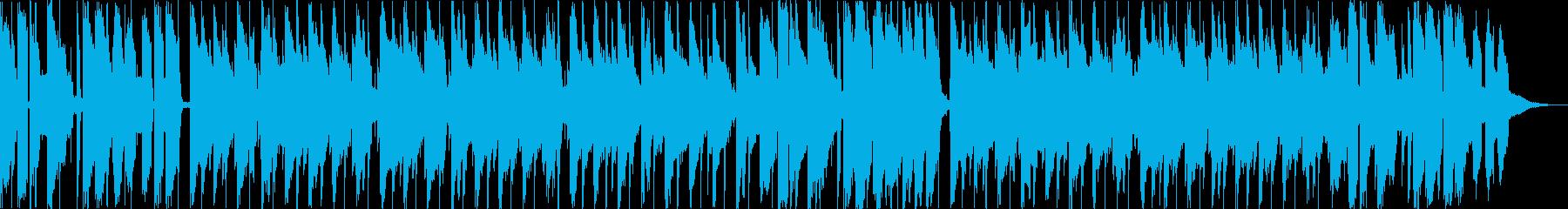 波の音と切ないレトロなピアノのlofiの再生済みの波形