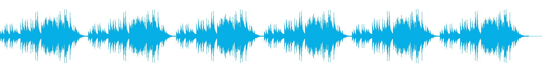 温かいショートループピアノ曲の再生済みの波形