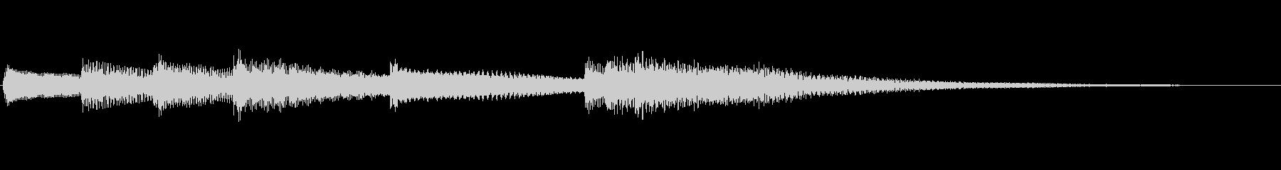 【生演奏】少しムードのあるピアノジングルの未再生の波形