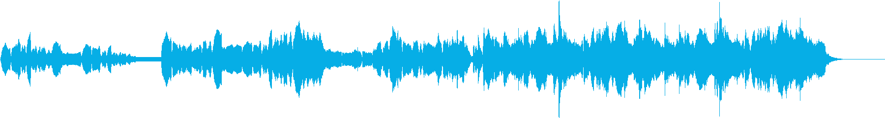 ほのぼのした雰囲気の管弦アンサンブルの再生済みの波形