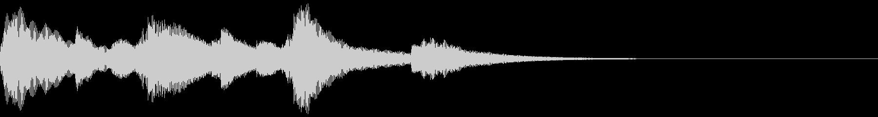 煌めくオルゴールのジングル/サウンドロゴの未再生の波形