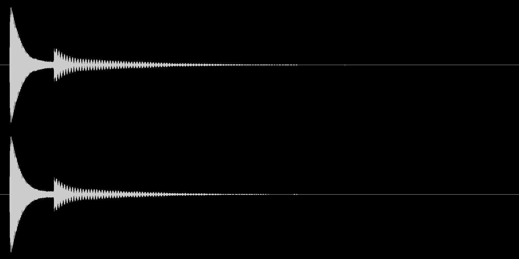ポコッ↑/木琴/かわいいの未再生の波形
