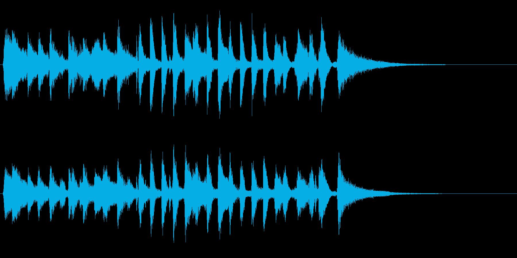生演奏ジングル暗めラグタイムピアノジャズの再生済みの波形