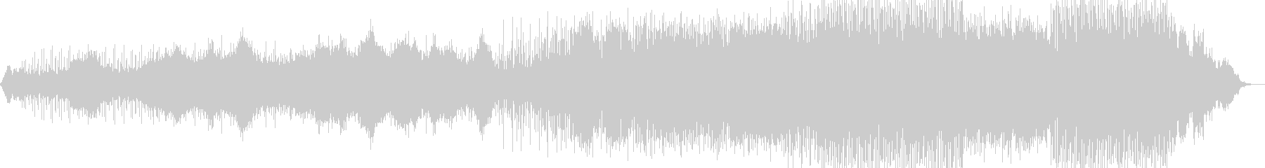 ミステリアスなニューエイジ音楽の未再生の波形