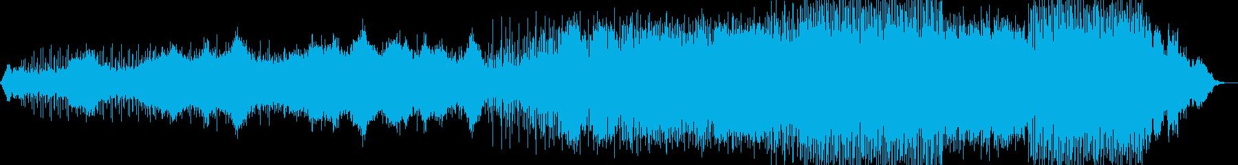 ミステリアスなニューエイジ音楽の再生済みの波形